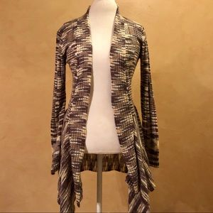 Forever 21 Aztec Print Duster Cardigan Sweater Sm